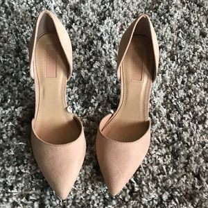 Forever 21 nude career heels SZ 5.5 Dorsay style